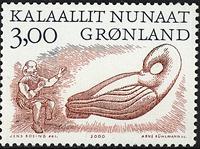 Grønland - 2000. Arktiske vikinger II - 3,00 kr. -  Grå / Rødbrun