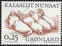 Groenland - 2000. Les Vinkings Arctiques II - 0,25  kr - Noir et brun-rouges