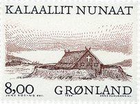 Groenland - 1999. Les Vikings Arctiques I - 8,00 kr. - Noir et brun-rouge