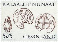 Groenland - 1999. Les Vikings Arctiques I - 5,75 kr. - Noir et brun-rouge