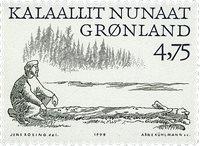 Groenland - 1999. Les Vikings Arctiques I - 4,75 kr. - Noir et vert-gris