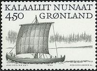 Groenland - 1999. Les Vikings Arctiques I - 4,50 kr. - Noir et vert-gris