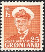 Grønland - Kong Frederik IX - 25 øre - Rød