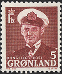 Groenland - Roi Frédéric IX - 5 øre - Lie-de-vin