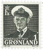 Groenland - Roi Frédéric IX - 1 øre - Vert-gris