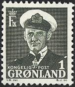Grønland - Kong Frederik IX - 1 øre - Grønsort