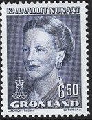 Grønland - Dronning Margrethe II - 6,50 kr. - Blå