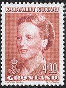 Groenland - Reine Margrethe II - 4,00 kr. - Rose carminé
