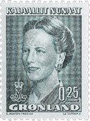 Grønland - Dronning Margrethe II - 0,25 kr. - Grøn