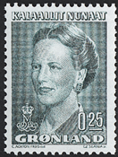 Groenland - Reine Margrethe II - 0,25 kr. - Vert