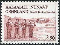 Grønland - 250-året for Hernnhutstationen ved Nuuk/Godthåb - 2,50 kr. - Rød