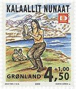 Groenland - 2000. Exposition philatélique HAFNIA 01 - 4,50+1,00 kr.
