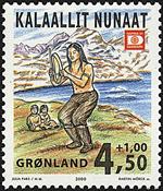 Grønland - 2000. Frimærkeudstillingen HAFNIA 01 - 4,50+1,00 kr.- Flerfarvet
