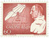 Groenland - 1969. 70ème anniversaire de Frédéric IX - 60 øre - Rouge