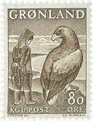 Groenland - 1969. La fillette et l´aigle - 80 øre - Brun clair
