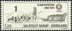 Grønland - 25-året for slædepatruljen Sirius - 1,20 kr. - Brun