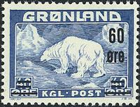 Grønland - Isbjørn - 60 øre / 40 øre - Blå (27)