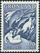 Grønland - 1957. *Havets Moder* - 60 øre - Grønligblå