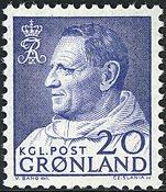 Groenland - Roi Frédéric IX - 20 øre - Bleu