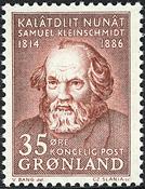Grønland - 1964. Samuel Petrus Kleinschmidts - 35 øre - Orangebrun