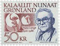 Groenland - Personnalités groenlandaises - 50 kr. - Bleu et rouge-brun