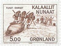 Groenland - Culture Esquimaude par les Européens -  5,00 kr. - Brun