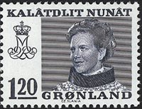 Groenland - Reine Margrethe II - 120 øre - Bleu