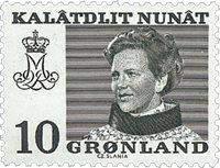 Grønland - Dronning Magrethe II - 10 øre - Grøn