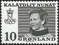 Groenland - Reine Margrethe II - 10 øre - Vert