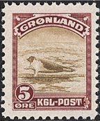 Grønland - 1945 Amerikansk udgave - 5 øre - Postfrisk