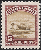 Groenland - Emission américaine - 5 øre - Lilas et  brun
