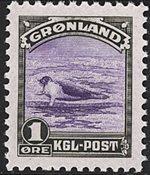 Grønland - 1945 Amerikansk udgave - 1 øre - Postfrisk