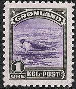 Groenland - Emission américaine - 1 øre - Brun-olive et violet