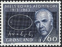 Groenland - 1963. Professeur Niels Bohr - 60 øre -  Bleu
