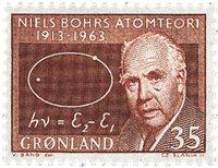 Groenland - 1963. Professeur Niels Bohr - 35 øre -  Rouge-brun