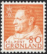Groenland - Roi Frédéric IX - 80 øre - Orange