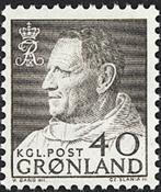 Groenland - Roi Frédéric IX - 40 øre - Gris