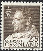 Grønland - Kong Frederik IX i anorak - 25 øre - Brun