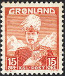 Groenland - Roi Christian X - Rouge - Type I - 15 øre