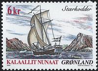 Grønland - 2002. Skibsfrimærker I - 6 kr. - Flerfarvet