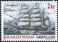 Grønland - 2002. Skibsfrimærker I - 2 kr. - Flerfarvet