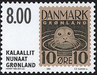 Grønland - Frimærkerne der aldrig udkom - 8,00 kr.  - Brun / Sort