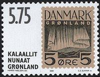 Grønland - Frimærkerne der aldrig udkom - 5,75 kr.  - Brun / Sort