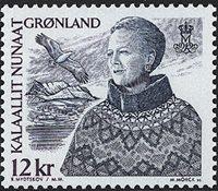 Groenland - 2000-02. Reine Margrethe II - 12 kr - Gris-bleu et violet