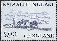 Groenland - 2001. Les Vikings Arctiques III - 5,00  kr - Noir et bleu