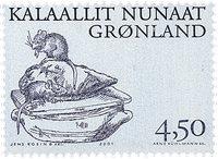Groenland - 2001. Les Vikings Arctiques III - 4,50  kr - Noir et bleu