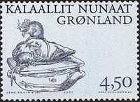 Grønland - 2001. Arktiske vikinger III - 4,50 kr. - Blågrå