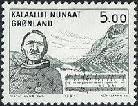 Groenland - 1984. Hommage à Henrik Lund - 5,00 kr.  - Gris-vert