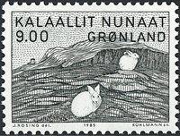 Grønland - 1985. Maleri af Gerhard Kleist - 9,00 kr. - Grønsort