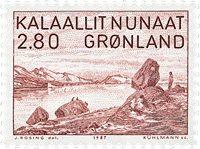Groenland - 1987 Paysage du fjord Ammassalik - 2,80 kr. - Brun-rouge